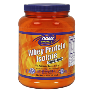 Picture of Now Foods Sports Whey Protein Isolate Cookies & Creme Powder 1.8 Lbs 13 Servings