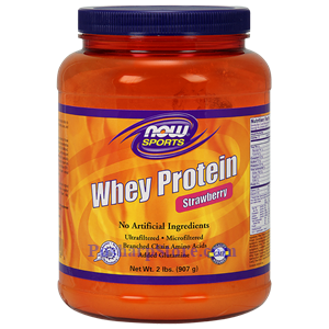 Picture of Now Foods Sports Whey Protein Strawberry  Powder 2 Lbs 21 Servings