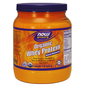 Picture of Now Foods Sports Organic Whey Protein Natural Unflavored Powder 1 Lb 19 Servings