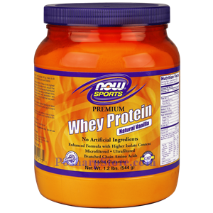 Picture of Now Foods Sports Premium Whey Protein Vanilla Powder 1.2 Lb 13 Servings
