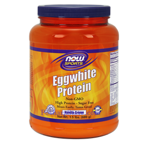 Picture of Now Foods Sports Eggwhite Protein Powder Vanilla Creme Flavor 1.5 Lb 24 Servings