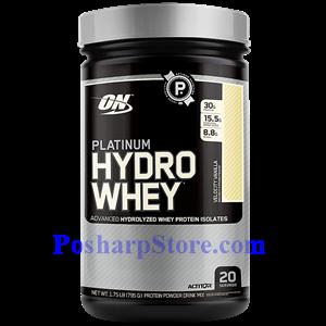 图片 Optimum Nutrition牌白金Hydrowhey系列水解分离乳清蛋白粉 香草味 795克 20份用量