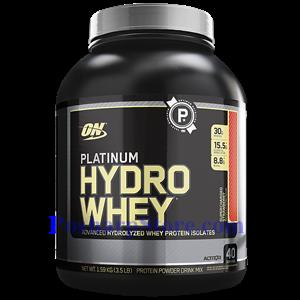 图片 Optimum Nutrition牌白金Hydrowhey系列水解分离乳清蛋白粉 草莓味 1590克 40份用量