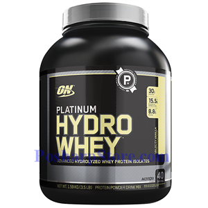 Picture of Optimum Nutrition Platinum Hydrowhey Hydrolyzed Whey Protein Isolates Vanilla 3.5 Lb 40 Servings
