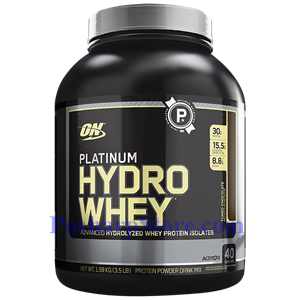 Picture of Optimum Nutrition Platinum Hydrowhey Hydrolyzed Whey Protein Isolates Chocolate 3.5 Lb 40 Servings