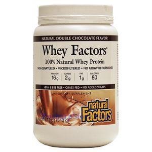 Picture of Natural Factors Whey Factors 100% Natural Whey Protein Double Chocolate 12 Oz 17 Servings