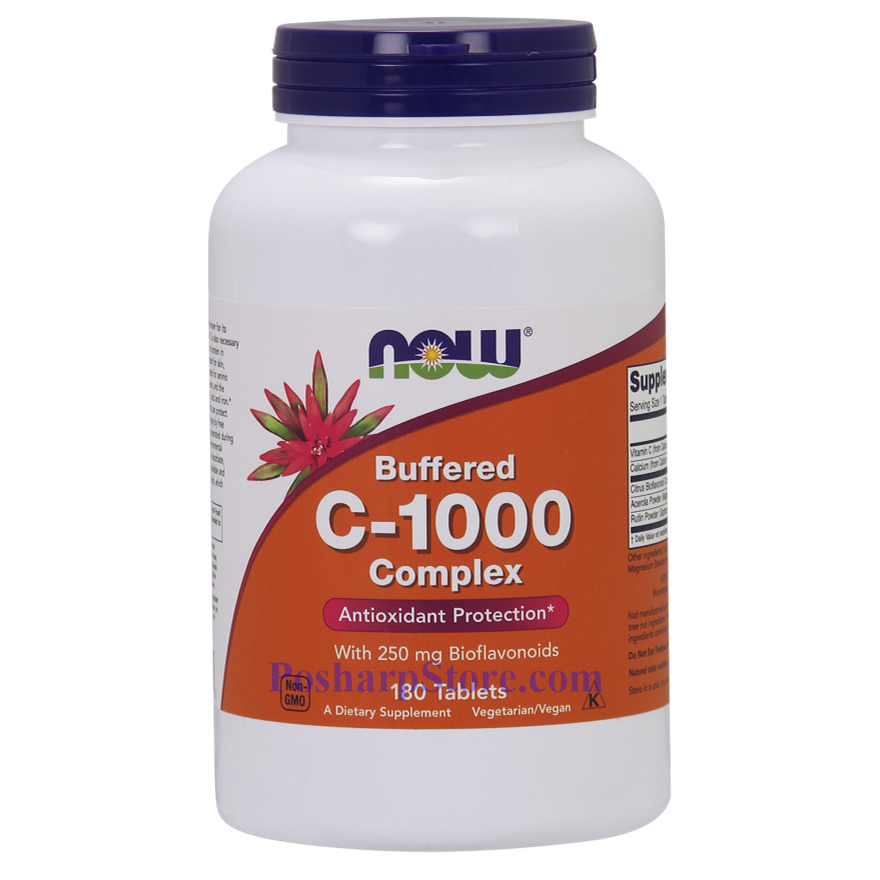 Picture for category Now Foods Foods Vitamin C-1000 Complex Buffered 180 Tablets