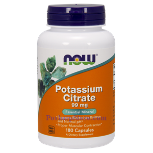 Picture of Now Foods Potassium Citrate 99 mg 180 Capsules