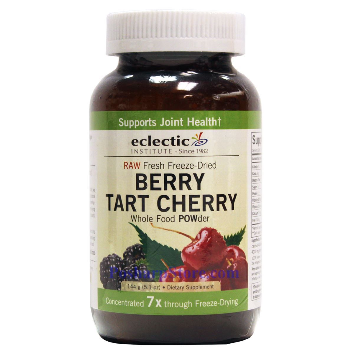 Eclectic Institute Berry Tart Cherry Whole Food Powder 5 1 Oz 16 Servings