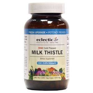 Picture of Eclectic Institute Raw Cold-Pressed Milk Thistle 600 mg 240 Veg Capsules