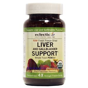 Picture of Eclectic Institute Raw Fresh Freeze-Dried Liver and Gallbladder Whole Food Powder 3.2 Oz 18 Servings
