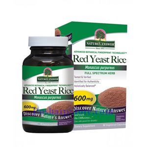 Picture of Nature's Answer Red Yeast Rice 600 mg 90 Vegetarian Capsules