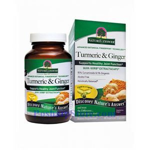 Picture of Nature's Answer Turmeric & Ginger ExtractaCaps® 75 mg 90 Vegetarian Capsules
