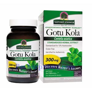 Picture of Nature's Answer Gotu Kola Extract 300 mg 60 Vegetarian Capsules