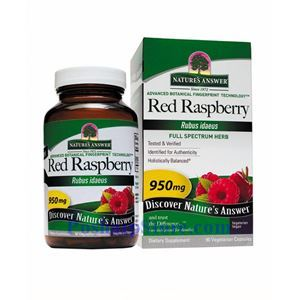 Picture of Nature's Answer Red Raspberry Leaf Extract 950 mg 90 Vegetarian Capsules