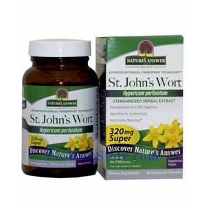 Picture of Nature's Answer St. John's Wort 320 mg 60 Vegetarian Capsules
