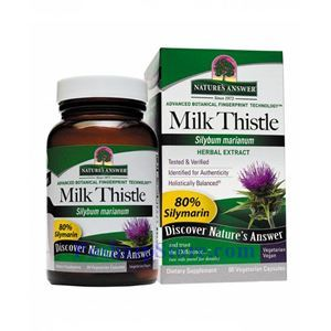 Picture of Nature's Answer Milk Thistle Extract 195 mg 60 Vegetarian Capsules