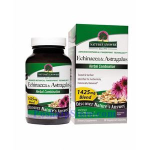 Picture of Nature's Answer Echinacea & Astragalus 1425 mg 90 Vegetarian Capsules